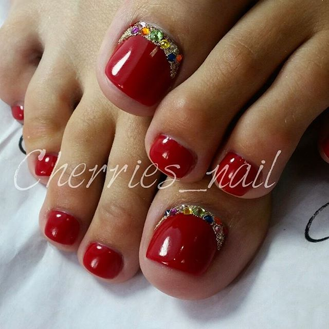 17 Best Ideas About Red Toenails On Pinterest