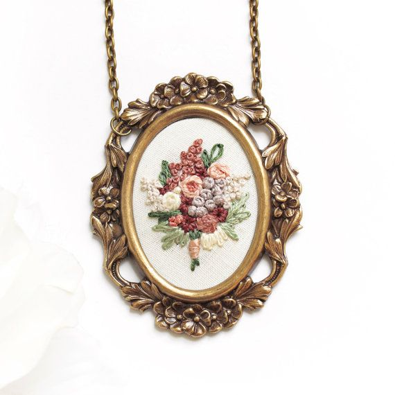 hand embroidery jewelry