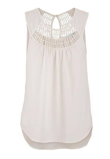 must-have summer pieces: sleeveless top with crochet and keyhole back