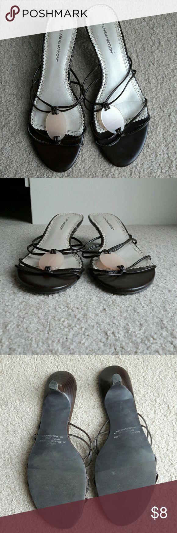 Hillard & Hanson strappy heels Brown strappy heels Hillard & Hanson Shoes