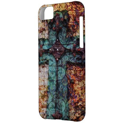 Vintage Cross Christian God Case cover iPhone 5C Case