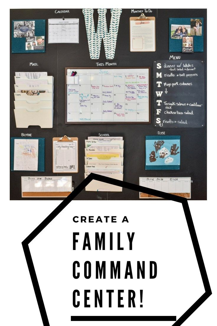 Family Command Center | Back to School | Family command center, Home