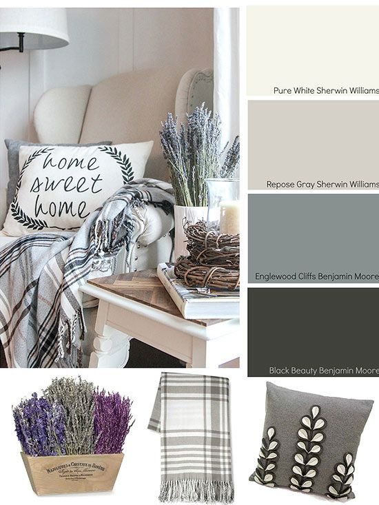 3 different color palettes and accessory ideas for creating a cozy home neutral traditional - Home Decor Color Palettes