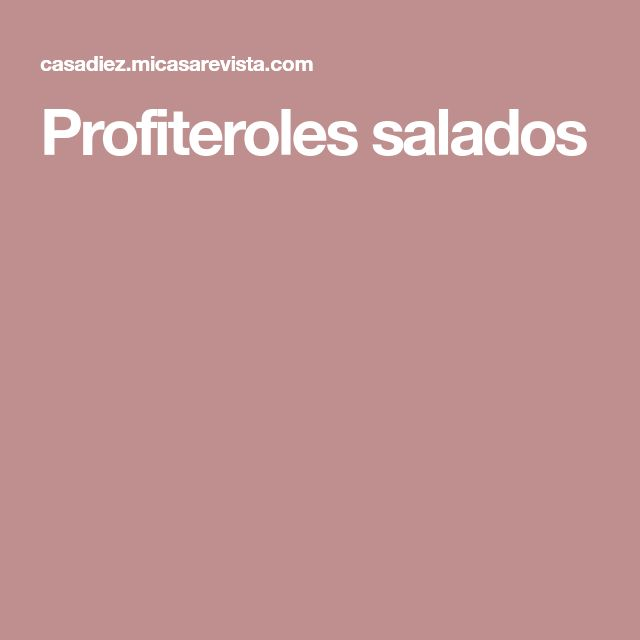 Profiteroles salados