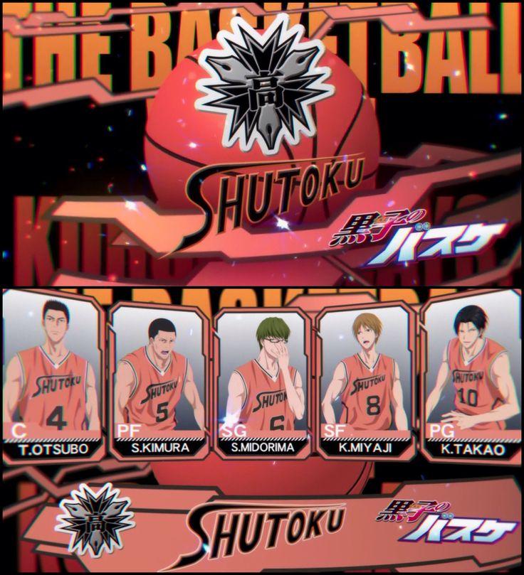 Kuroko's Basketball season 3 Shutoku
