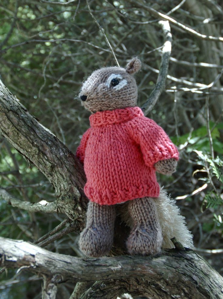 My original Squirrel knitting pattern came with a turtle-neck sweater , which was very simple - back and front knit the same, then sleeves p...