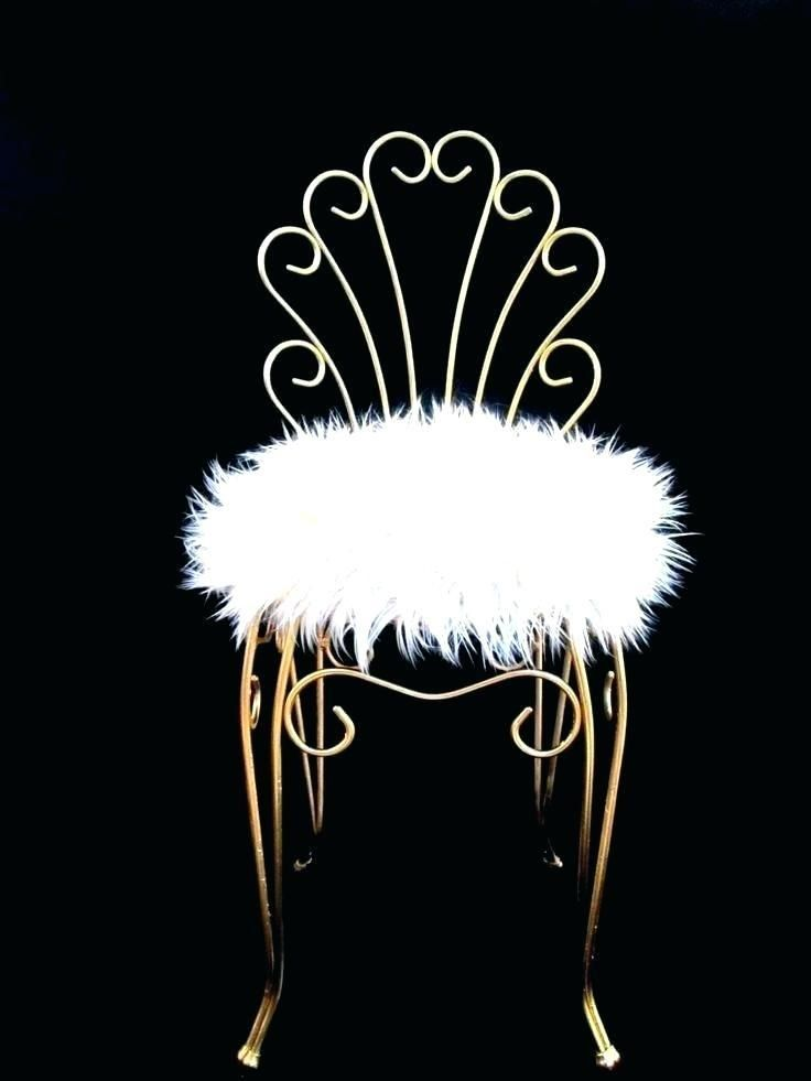 More Click Diy Vanity Stool Paint Fluffy Vanity Chair Gold