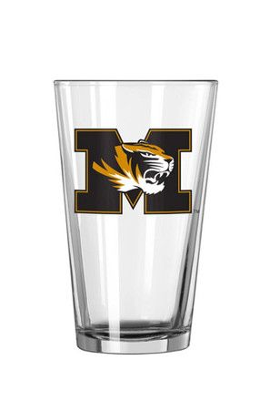 6 for $30 | Missouri Tigers 'M' with Tiger Logo Pint Glass