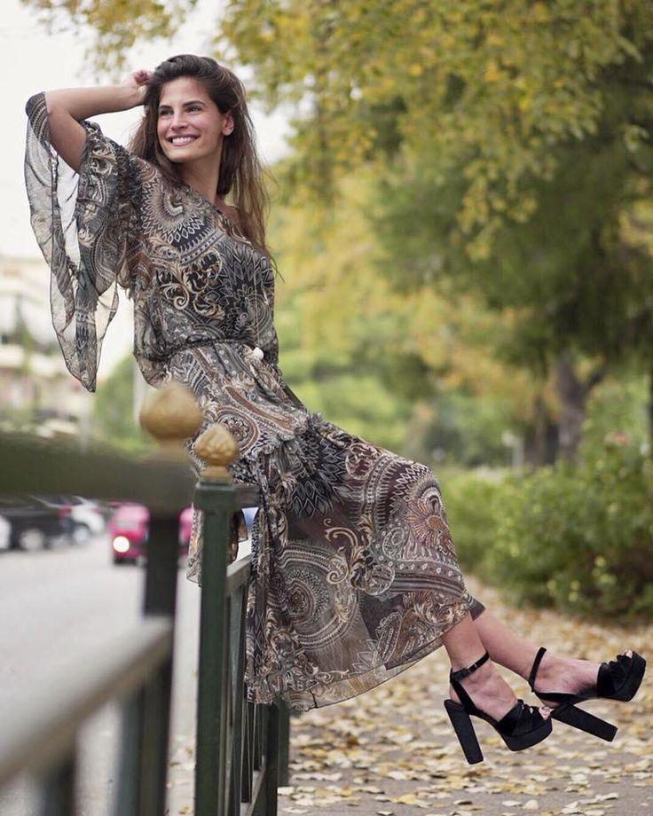 Sweetheart Christina Bompa in #MIGATO OD140 black high heeled sandals!  Shop online ► bit.ly/OD140-L14en