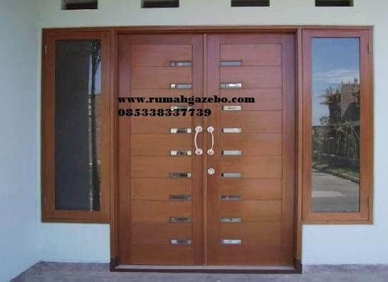 Pintu Minimalis 2 Pintu Kupu Kupu - Model Pintu Rumah Kupu Tarung Kayu Jati Harga Murah awet dan tahan lama produck rumahgazebo.com