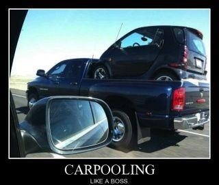 It's a whole new level of carpooling