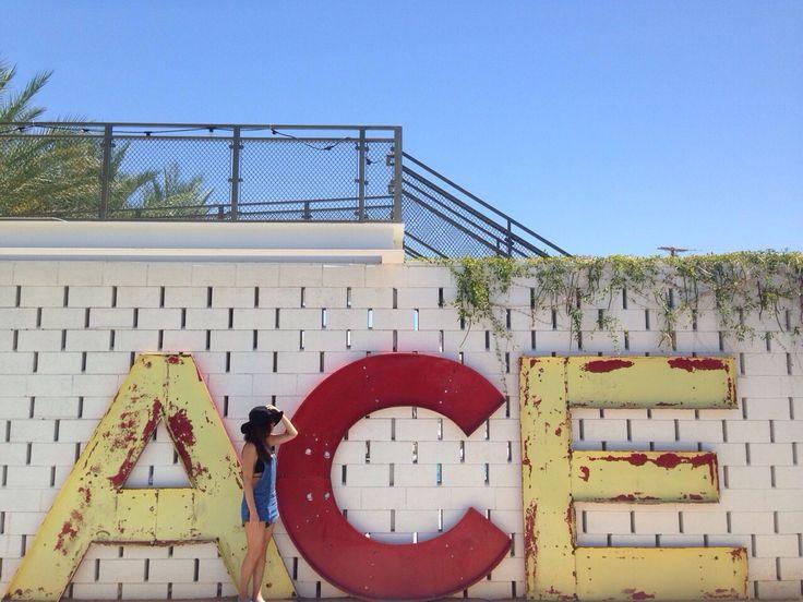 Ace Hotel & Swim Club, Palm Springs, CA. #acehotelpalmsprings The Susie Blue overalls #madebyafriendofmine