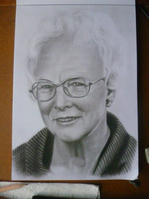 Charcoal portrait by Christine Dunn
