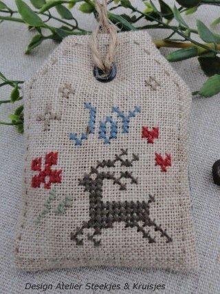 Steekjes & Kruisjes van Marijke: Gelukkig kerstfeest
