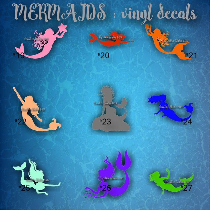 Best Images About VINYL DECALS Mermaids On Pinterest Shops - Mermaid custom vinyl decals for car