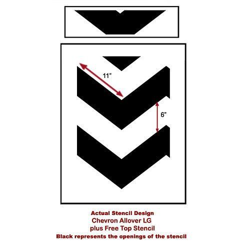 Chevron Allover Stencil - Large scale - reusable stencil patterns for walls just like wallpaper - DIY decor. $32.95, via Etsy.