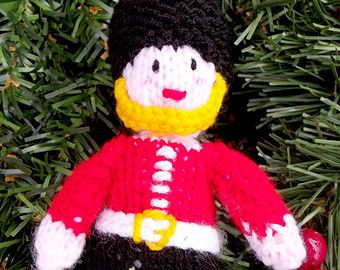 Toy Soldier Christmas Tree Ornament/Decoration - LondonToy Soldier/Guard HandKnitted/Handmade Soft Toy - Holiday Decor - Home Decor - Edit Listing - Etsy