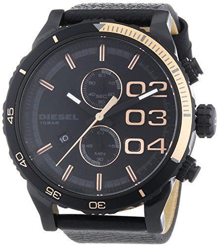 Diesel Herren-Armbanduhr XL Chronograph Quarz Leder DZ4327 - http://on-line-kaufen.de/diesel/diesel-herren-armbanduhr-xl-chronograph-quarz-2