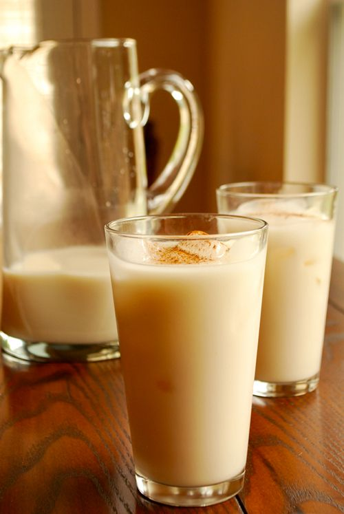 Horchata - Mexican cinnamon and rice ice drink. Simple recipe, with wonderful photos. Easy to make and sounds like it will be a delicious recipe. I like some of the suggestions to add almond milk instead of regular milk! I'll make my with coconut sugar instead of brown sugar.