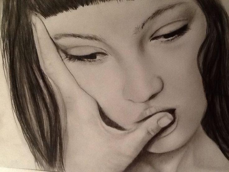 Ritratto. Portrait . Pencil drawing by Paola Petrucci.