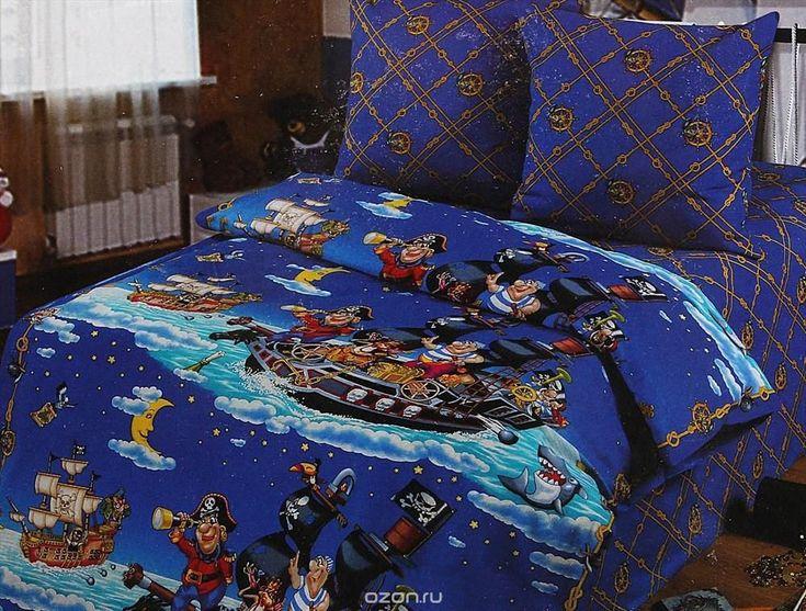Постельное белье Арт Постель Пираты (1,5 спальный КПБ, бязь-люкс, наволочки 70х70)