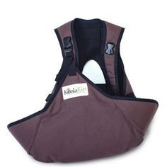 KoalaKin Hands-Free Breastfeeding Sling chocolate brown xtra small
