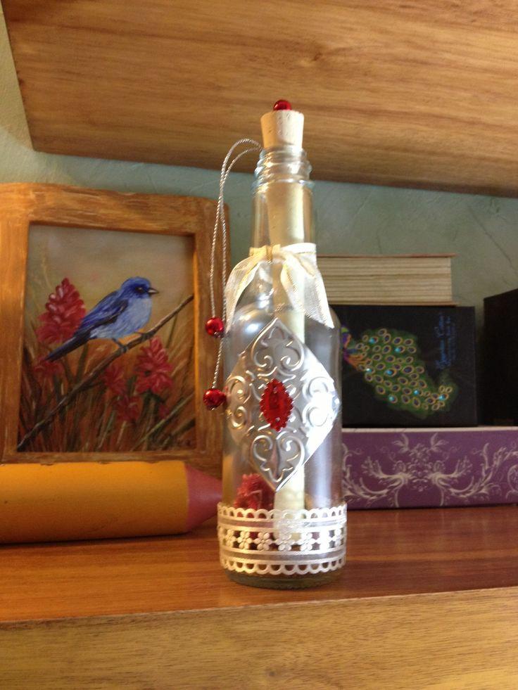 Botella decorada invitaciones de boda pinterest - Mesas de boda decoradas ...