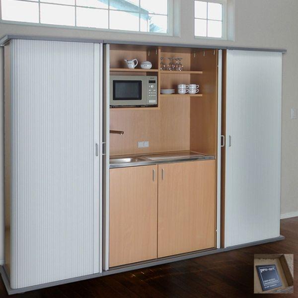 Kompaktküche | Schrankküche Rolldoor - elegante Form mit Potenzial