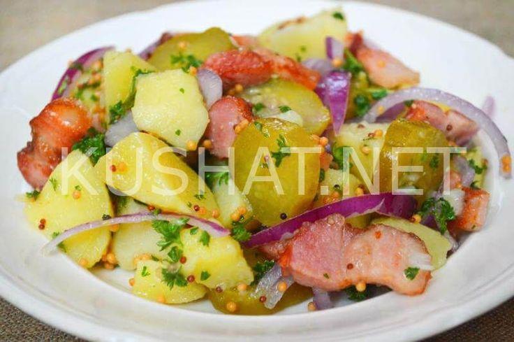 Немецкий картофельный салат с беконом. Пошаговый рецепт с фото
