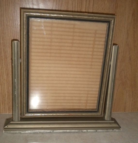 vintage wooden swing tilt picture frame 1930s art deco 8 x 10 wood photo holder for