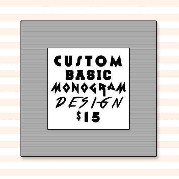 Custom Monogram Basic Design by sugarbushsupplies on Etsy