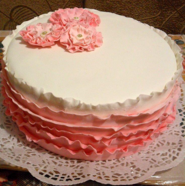 Торт Розовые кружева
