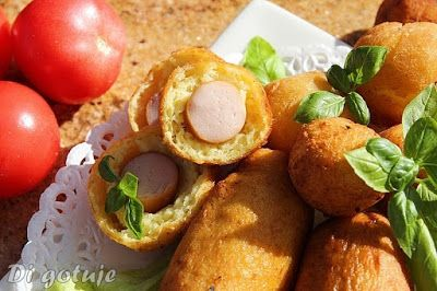 Di gotuje: Parówki z szynki w cieście ptysiowo- ziemniaczanym...