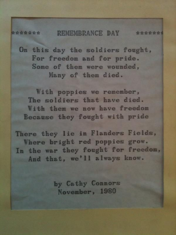 remembrance day...