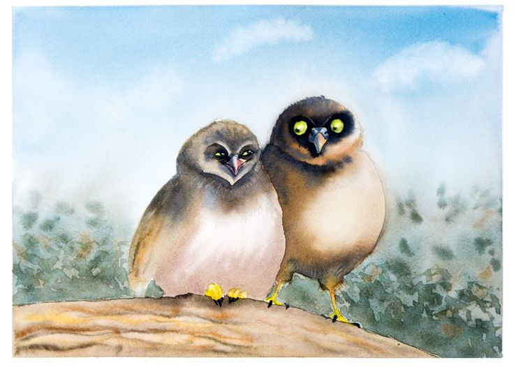 Forest owl art, Two owls on branch, Owl Watercolor Print-printable forest art-watercolor owl-nursery forest print nursery, forest friends, by ArtOlgaShef on Etsy