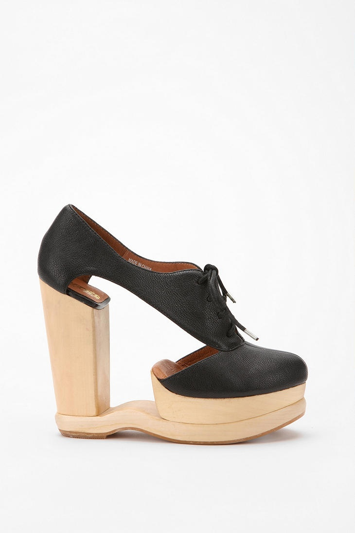 I would maybe wear these.  High Hills that look cool. Wow. I need to try these on. Jeffrey Campbell on Urban Outfitters $199