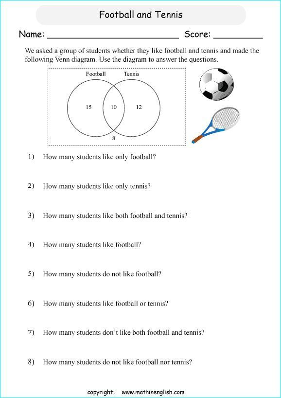 24 Venn Diagram Word Problems With 3 Circles Worksheet Printable Primary Math Worksheet Works Venn Diagram Worksheet Word Problem Worksheets Venn Diagram