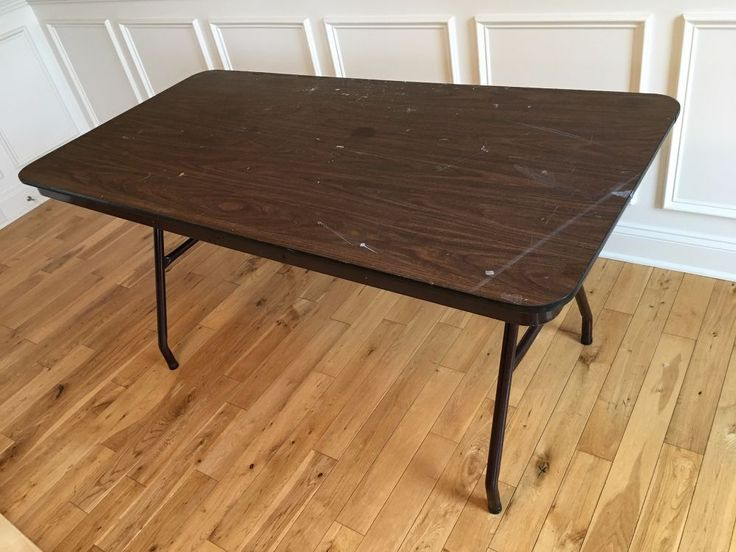 "Give that ugly, old banquet table a new lease on life by adding a new table top. Begin by measuring your table. My table measured  5' x 30""; however, I purchase…"