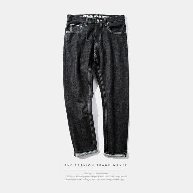 Lovely Jean A La Mode #13: Menu0027s Black Straight Jeans Denim New Fashion Homme Jeans Pant Men Biker  Denim Skinny Jeans Men