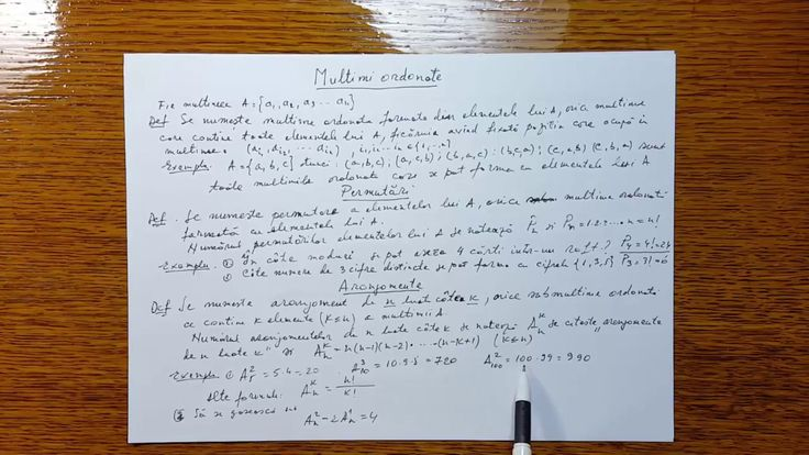 Multimi ordonate Permutari Aranjamente Combinari - Algebra - Clasa a X-a...