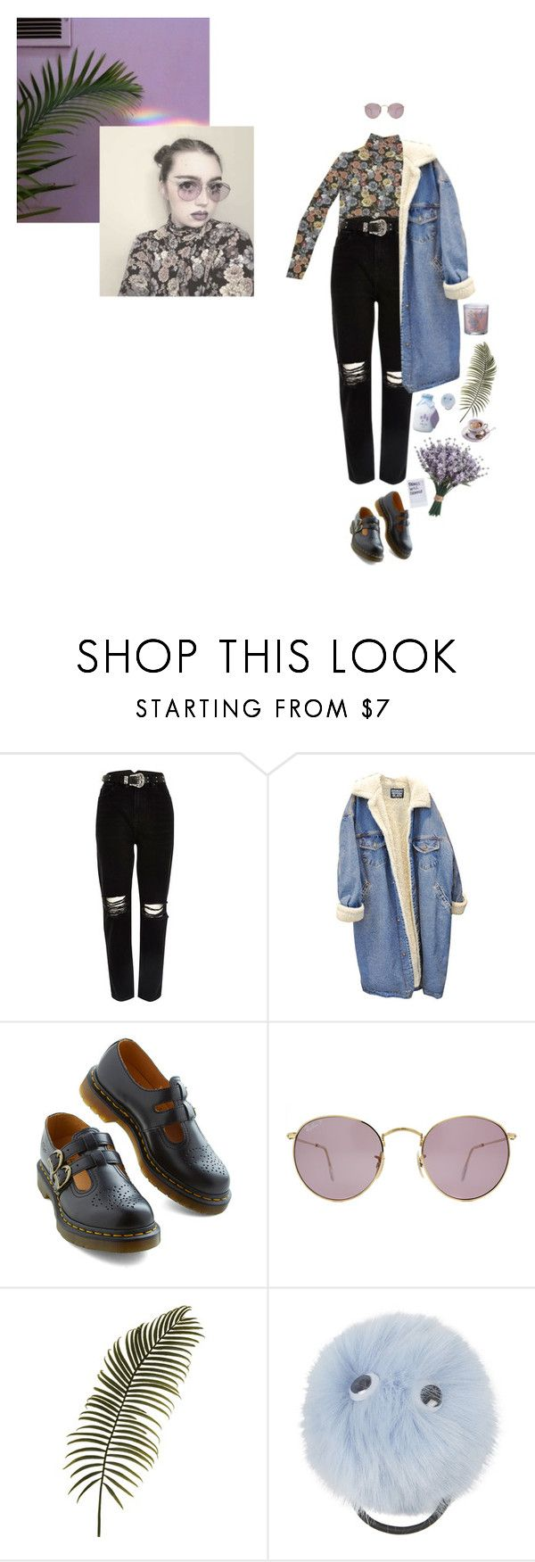"""i see the world"" by eggtartt ❤ liked on Polyvore featuring River Island, Bernie Dexter, Ray-Ban, Aroma and Topshop"