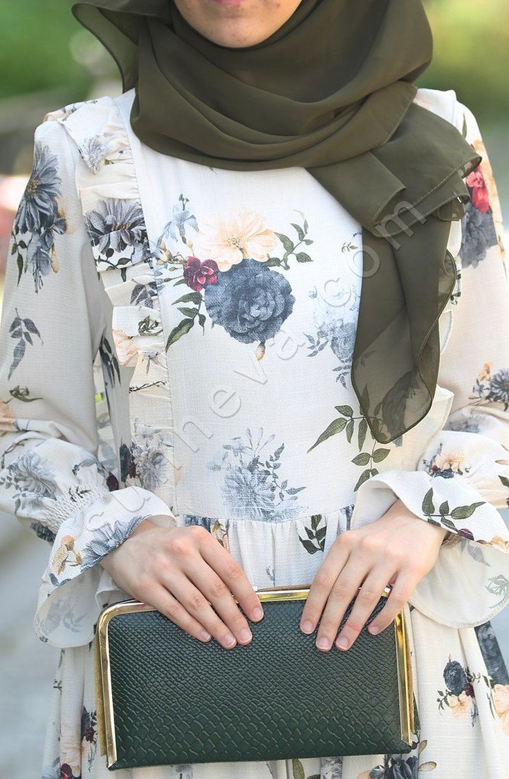 Fırfırlı Çiçek Elbise - Mavi