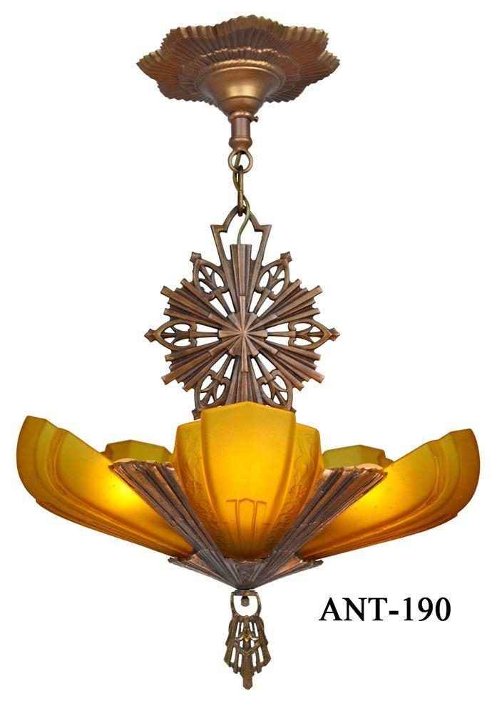Art Decó Virden slip shade chandelier. - Best 25+ Art Deco Chandelier Ideas On Pinterest Art Deco