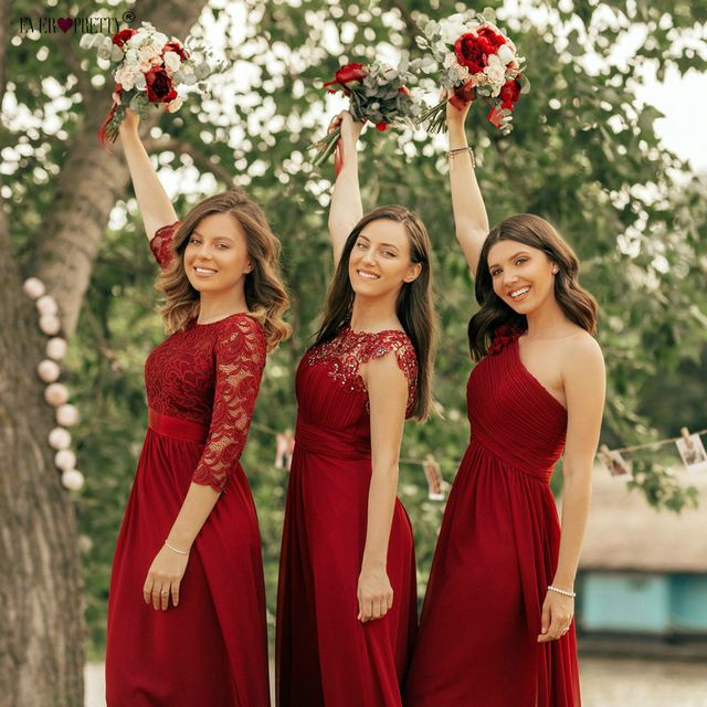Your Own Red Wedding Beautiful Crimson Bridesmaid Dresses In