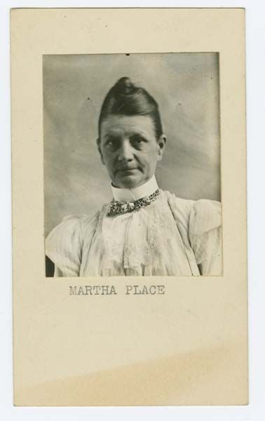 Sing Sing Prison mug shot of prisoner Martha Place (1899).     Source: Lewis Lawes Collection. Special Collections, Lloyd Sealy Library, John Jay College of Criminal Justice  www.lib.jjay.cuny.edu/crimeinny
