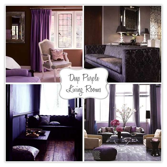 Purple Living Rooms   Especially The One On The Lower Right