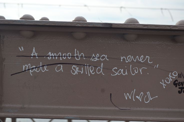 Is our author a sailor or merely someone who's weathered stormy seas?