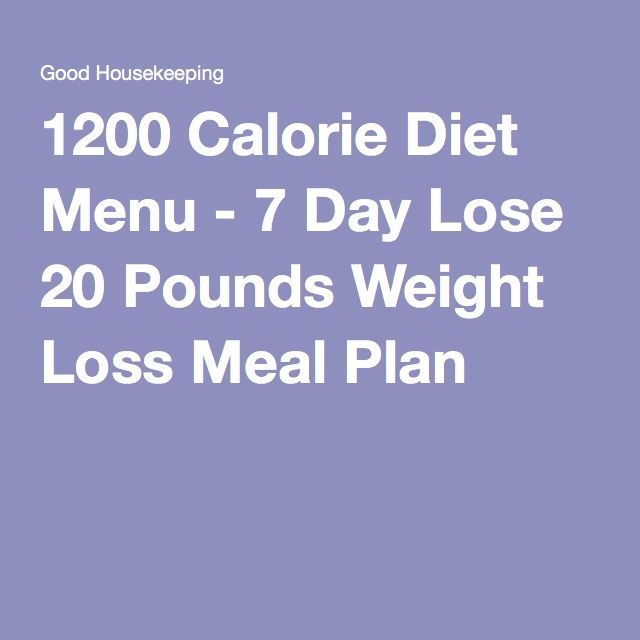 A 7-Day, 1,200-Calorie Meal Plan – Jamie Casey
