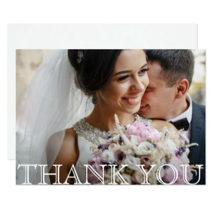 Stylish Modern Photo Wedding Thank You Card - simple gifts custom gift idea customize