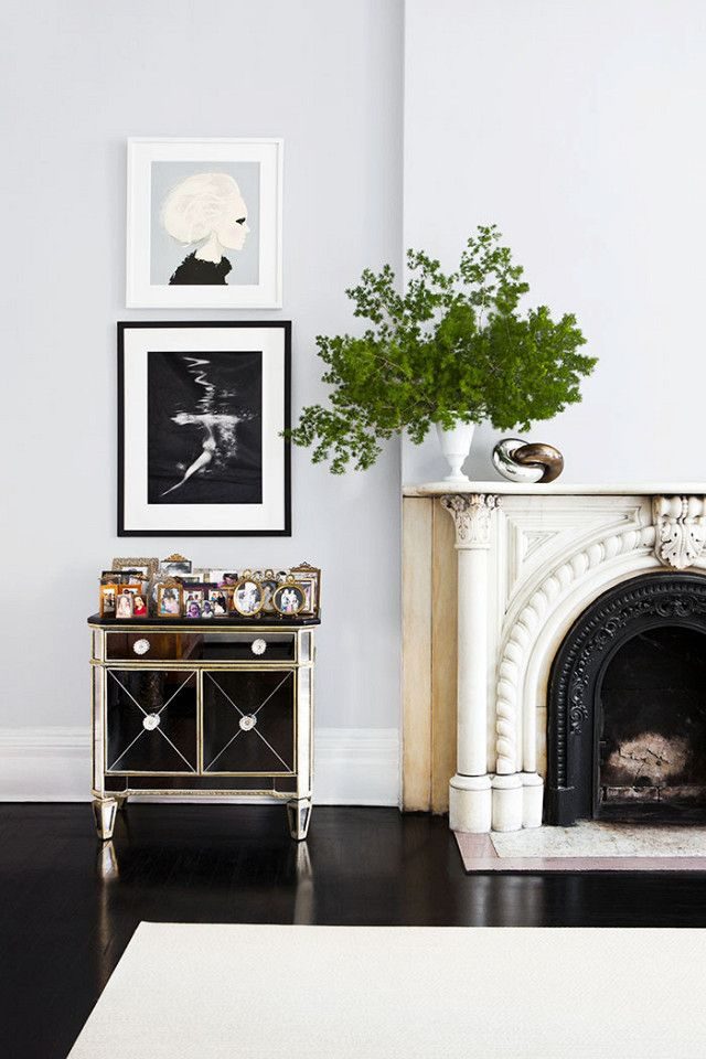 How to style a fireplace for the holidays
